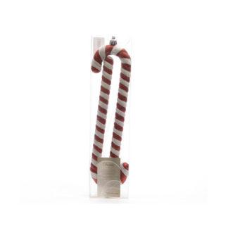 Candy Cane Glitter cm 24 set 2 pezzi