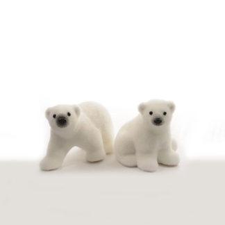 Orso Polare innevato cm. 14