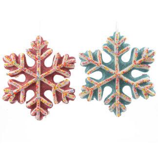 Fiocco di neve glitterato cm 15