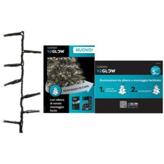 Filo 540 led a luce fredda per albero di Natale da cm 180