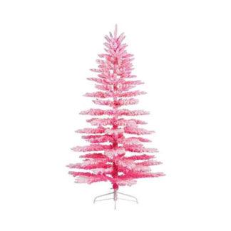 Albero di natale rosa innevato cm 200