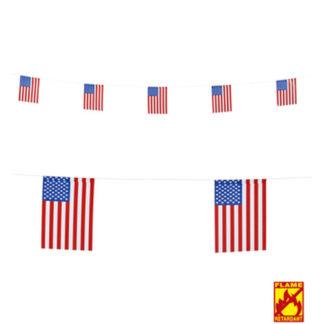 Bandierine U.S.A. rettangolari in carta mt 6