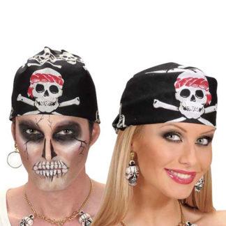 Bandana pirata con teschi