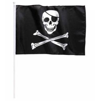 Bandierina pirata con asta