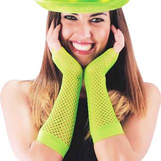 Guanti a rete verde Fluo