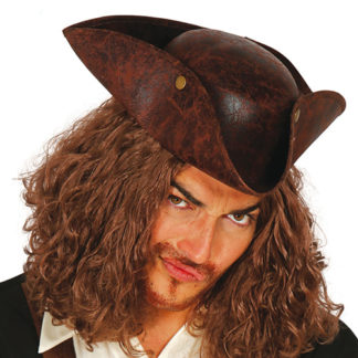 Tricorno pirata in similpelle