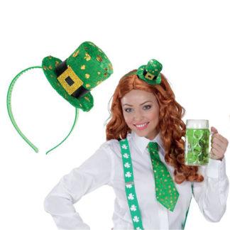 Cerchietto con cappellino San Patrick
