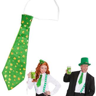 Cravatta con trifoglio San Patrick