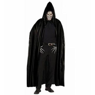 Mantello nero con cappuccio
