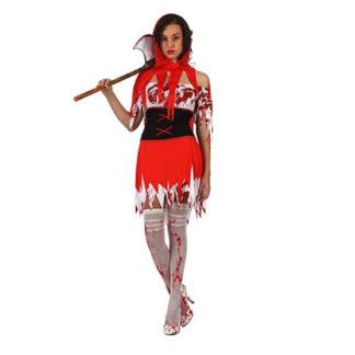 Costume Cappuccetto Rosso insanguinato