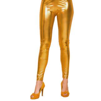 Leggins metallizzati oro tg. S/M