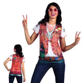 Maglietta realistic Hippie Tg. M
