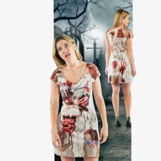Costume realistic horror Zombie donna tg. Mq