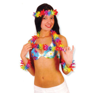 Set festa hawaiana 4 pezzi