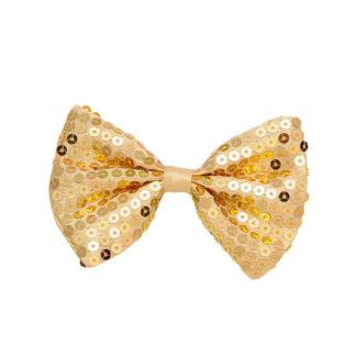 Papillon pailettes oro