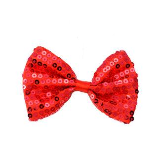 Papillon pailettes rosso