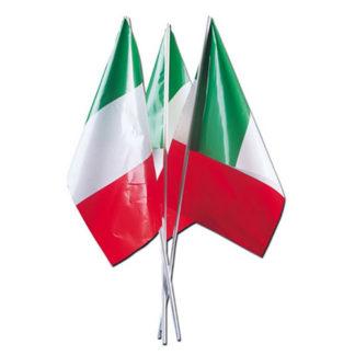 Bandierine Italia con asta