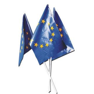 Bandierine Europa con asta