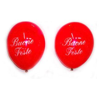 Palloncini rossi Buone Feste 25 pezzi