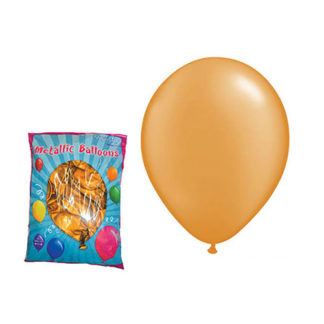 Palloncini metallizzati oro 100 pezzi