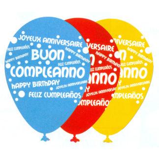 Palloncini Buon Compleanno conf 25 pz