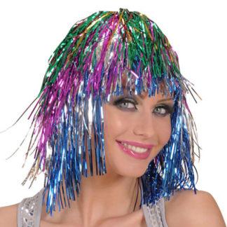 Parrucca disco metallizzata
