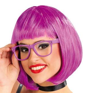 Parrucca liscia viola