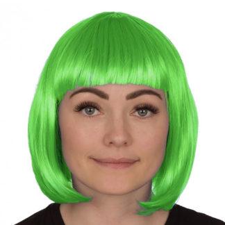 Parrucca liscia verde