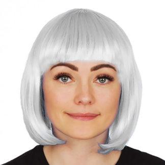 Parrucca liscia bianca