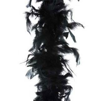 Boa piume nero