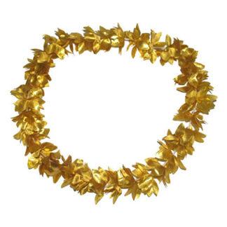 Collana hawaiana metallizzata oro