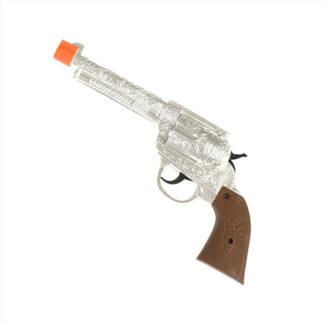 Pistola western argento