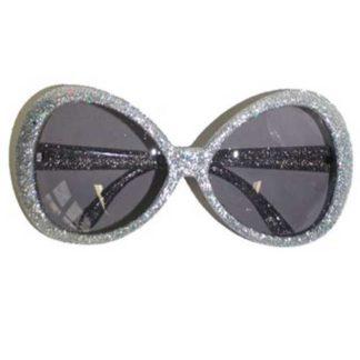 Occhiali glitter argento