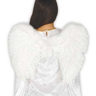 Ali angelo con piume bianche cm 50