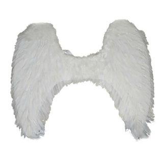 Ali angelo maxi con piume bianche
