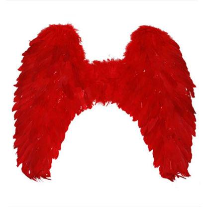 Ali angelo maxi con piume rosse