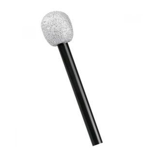 Microfono glitter argento