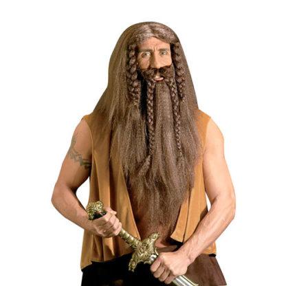 Parrucca con barba e baffi