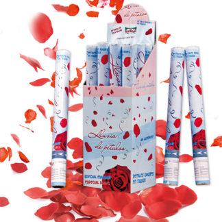Tubo spara petali rossi cm 50