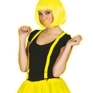 Bretelle neon colore giallo