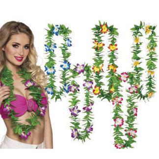 Collana Hawaiana fiori e foglie