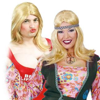 Parrucca bionda lunga unisex