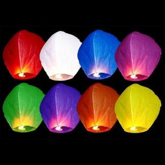 Lanterna volante set 10 pezzi assortiti cm 95