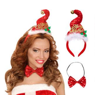 Cerchietto Babbo Natale con Papillon