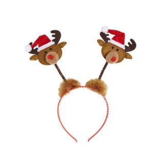 Cerchietto natalizio con renne