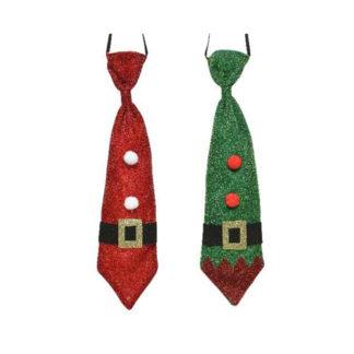 Cravatta Natalizia glitterata