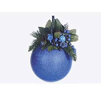 Pallina di natale mm.200 glitter blu