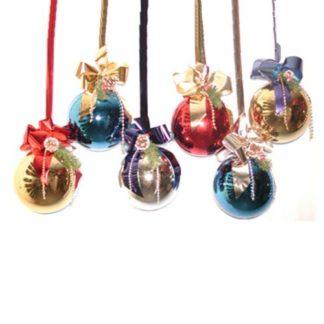 Palla di Natale decorata mm. 200