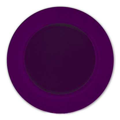 Piatto satinato e glitterato viola cm. 33