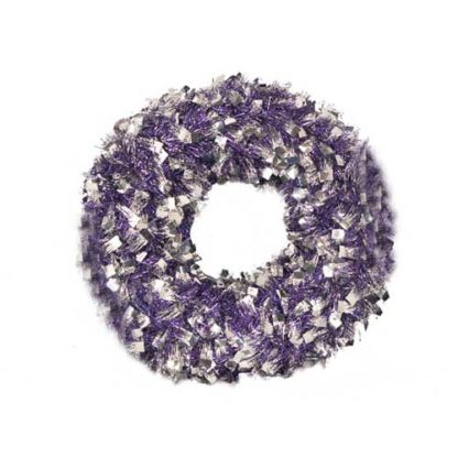 Corona Natalizia viola e argento cm 44